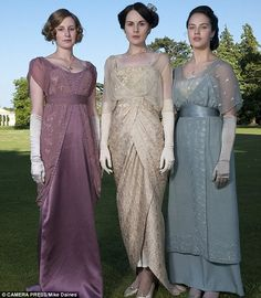 In character: Jessica, right, as Lady Sybil in Downton Abbey