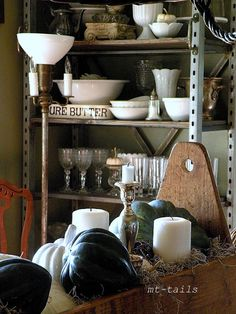 Oliver and Rust: An industrial Shelf comes to life.... plus some fall decor