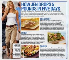 Jens diet! Needs to be tweaked for calories to make sure supply isn't affected. bikini diet plan
