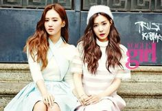 YuRi and Tiffany for Vogue Girl   cr : allkpop