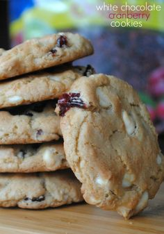 Unforgettable White Chocolate Cranberry Cookies | This easy cookie recipe is one of my favorites. It's so sweet and has a great flavor combination. This recipe makes for some of the best Christmas cookies in case you wanted to make them for your next cookie swap!