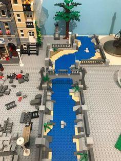 Lego Winter Village, Lego Village, Lego For Adults, Lego For Kids, Lego Display, Amazing Lego Creations, Lego Activities, Lego Trains, Lego Construction