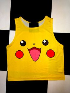 SWEET LORD O'MIGHTY! PIKACHU CROP TANK #pokemon #kawaii #cute