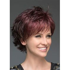 Deluxe Layered Deeply Wavy Lace Front Wigs Synthetic Hair 10 Inches - New Site Bobs For Thin Hair, Short Hairstyles For Thick Hair, Short Hair With Layers, Short Hair Cuts For Women, Bob Hairstyles, Curly Hair Styles, Layered Bob With Bangs, Layered Bobs, Asymmetrical Bob Haircuts