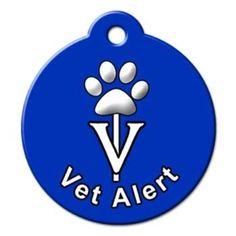 Vet Alert QR Code Pet ID Tag by BarkCode - Blue