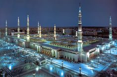 The Mosque of the Prophet (or Prophet's Mosque) (Arabic: المسجد النبوي in Medina, is the second holiest mosque in Islam and the second largest mosque in the world after the Masjid al-Haram in Mecca. It is the final resting . Al Masjid An Nabawi, Masjid Al Haram, Beautiful Mosques, Beautiful Places, Beautiful Pictures, Medina Mosque, Medina Islam, Mekkah, Grand Mosque