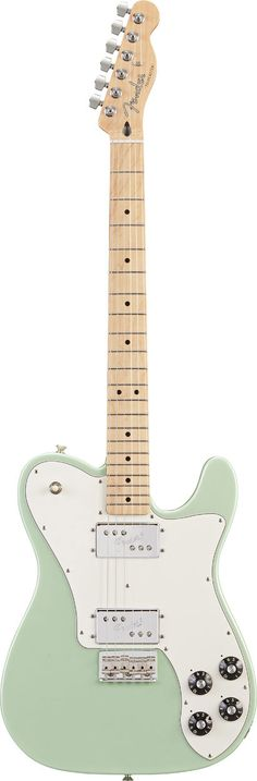 Fender Tele Deluxe maple neck seafoam pearl. Ahhhhhhh love the seafoam. Pretty.