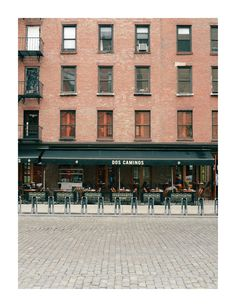 Meatpacking district, New York. A great place to stroll around. Stop for breakfast at Pastis just opposite here
