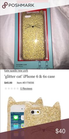 NIB Kate Spade Case - IPhone 6 Cat case new in box, never used. For an iPhone 6. Retails at $45 kate spade Accessories Phone Cases