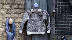 Sweater med færøsk mønster og raglan med opskrift