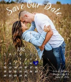 Our perfect calendar magnet save the dates! Invites by Allie- Etsy