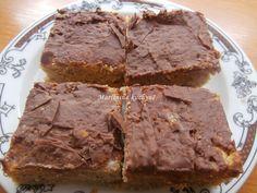 Martinina kuchyně: Jablečný moučník s čokoládovou polevou