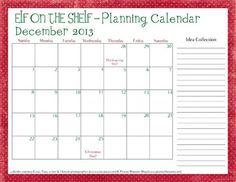 Most recent Photos Plan, Plan, Plan! Suggestions Elf on the Shelf Planning Calendar Carey Planning Calendar, Kids Calendar, 2013 Calendar, The Elf, Elf On The Shelf, All Things Christmas, Christmas Holidays, Christmas Ideas, Christmas Crafts