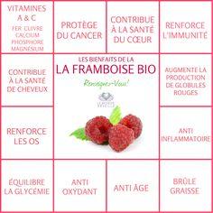 Les bienfaits de la Framboise | LA FRAMBOISE Le Monde s'Eveille Grâce à Nous Tous ♥