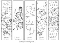 Printable Bookmarks to Color; download - print - colour