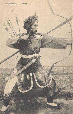 Photographs of Manchu and Chinese archers   Fe Doro - Manchu archery