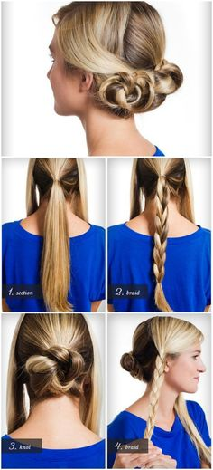 . Cute_HairStyle #HairStyle #Top_HairStyle_Ideas #HairStyle_Ideas #cute_braide_ bun_hairstyle