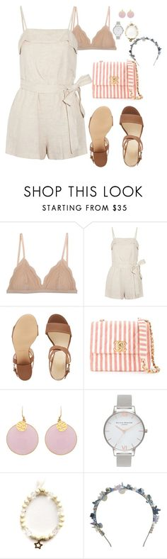 """""""Summer Nights Dancing"""" by meljay28 ❤ liked on Polyvore featuring Cosabella, Alice + Olivia, Nine West, Chanel, Olivia Burton, Eugenia Kim and prettyunderpinnings"""