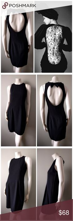 """VTG Ann Taylor Black Open Back Bow LBD Dress S M Look like a modern Audrey Hepburn in this classic LBD from Ann Taylor. Demure front, daring open back with adorable bow. Side zip closure, lined, small back vent. Fluid poly crepe. Reminiscent of YSL. True vintage item from the 1980s.  In near-mint vintage condition (9.99/10). No stains or flaws. Comes from a smoke-free home.  BRAND: Ann Taylor. SIZE: Vintage 10, confirm measurements below. BUST: up to 34"""" (86cm). WAIST: up to 29"""" (73.7cm)…"""