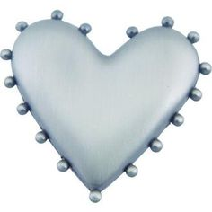 Atlas Homewares 2224-NO BEADED HEART KNOB PEWTER