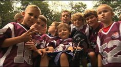 BarDown: Young man with spinal muscular atrophy scores a TD for his youth team #SMA