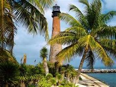 Florida.  Miami's Key Biscayne Lighthouse. My girlfriend and I use to ride bikes over to the Crandon Park Zoo (now Miami Metro Zoo further south).