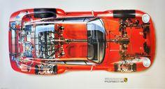 porsche 959 cutaway - Google Search