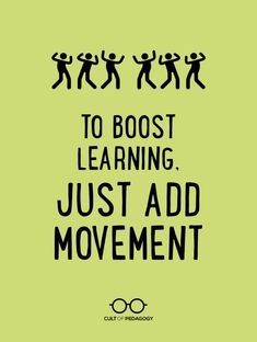 Physical movement makes learning stick better. Explore six different ways to add more movement to your classroom. Instructional Coaching, Instructional Strategies, Teaching Strategies, Teaching Tips, Teaching Techniques, Instructional Technology, Instructional Design, Creative Teaching, Retrieval Practice