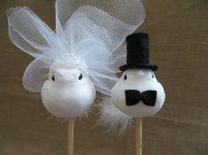 White Love Bird Wedding Cake Topper Bird by TheHauteBoxBoutique, $20.95