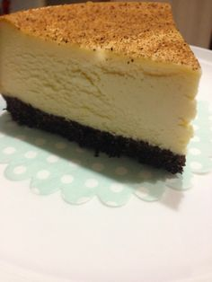 New York Baked Cheesecake slice