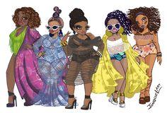 Looking for a bit of plus size fashion art? We shine the light on Jonquel Norwood, a NY plus size artist! Black Love Art, Black Girl Art, Black Girl Magic, Art Girl, Black Girls, African American Art, African Art, American Women, Plus Size Art