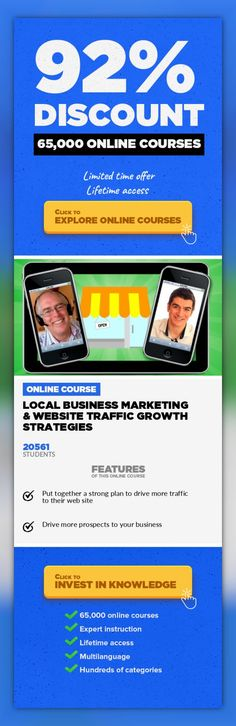 Local Business Marketing & Website Traffic Growth Strategies Strategy, Business #onlinecourses #survivalskills #onlineprogramslinkHow to get all the targeted traffic you could want to your web site Discover how to drive massive numbers of hot buyers to your local business's web site. In this course, you will learn how to build a proven planfor marketingyour unique business. Scott Paton and S...