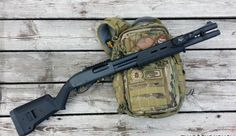 The shotgun is probably the most versatile survival firearm on can possess. It has unparalleled versatility. Survival Weapons, Survival Prepping, Survival Gear, Survival Cache, Survival Shelter, Survival Quotes, Survival Skills, Tactical Shotgun, Tactical Gear