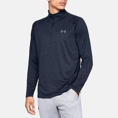 oversizeMen's Under Armour Tech Big & Tall Half-Zip Top, Size: Large Tall, Dark Blue Half Zip Pullover, Under Armour Men, Big & Tall, Up Shirt, Zip Ups, Long Sleeve Shirts, Leather Jacket, Leather Briefcase, Sweatshirts