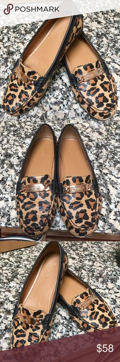 Coach Leopard Loafers Like New 8.5🌺🌼🌺 Coach Leopard Loafers Like New 8.5🌺🌼🌺 Coach Shoes Flats & Loafers