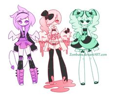 Pastel Goth Adoptables Batch 8: CLOSED by Zombutts on @DeviantArt