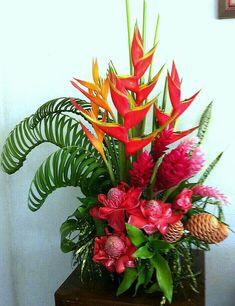 Printing Education For Kids Printer Tropical Flower Arrangements, Church Flower Arrangements, Beautiful Flower Arrangements, Beautiful Flowers, Arte Floral, Deco Floral, Floral Design, Altar Flowers, Church Flowers