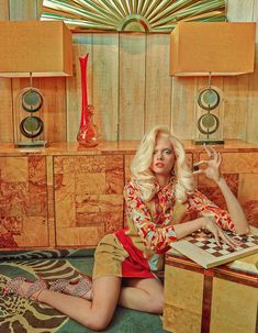 Seventies-inspired suede and retro interiors: Alyona Ubbotina for How To Spend It April 2015