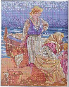 devant la barque Solo Patrones Punto Cruz (pág. 317) | Aprender manualidades es facilisimo.com