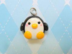 Fimo Kawaii Penguin Charm Polymer Clay