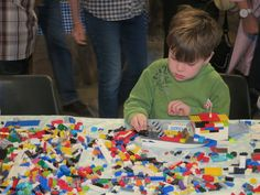 A lego table is a welcome attraction at any event or market.
