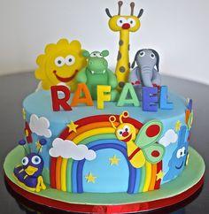 Baby TV - by Partymatecakes @ CakesDecor.com - cake decorating website
