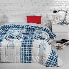 Cuvertură de pat modernă și cu un imprimeu tineresc, cu…
