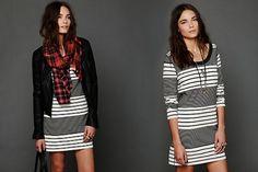 3 ways to wear a bodycon dress. http://blog.freepeople.com/2012/10/3-ways-wear-bodycon-dress/