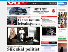 VG in Norway - top of site. Live example.