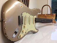 1964 Orig Shoreline Gold Fender Stratocaster Vintage Strat PRE CBS 7-1/4lbs