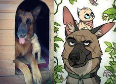 Funny Animal Jokes, Cute Funny Animals, Animal Memes, Cute Baby Animals, Funny Cute, Animals And Pets, Cute Dogs, Cute Animal Drawings, Cute Drawings