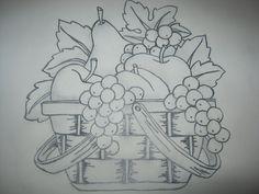 Drawing of fruit basket