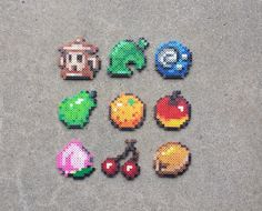 Items - Animal Crossing Perler Bead Sprites by MaddogsCreations on DeviantArt Hama Beads Design, Diy Perler Beads, Perler Bead Art, Hama Beads Animals, Beaded Animals, Animal Crossing, Pixel Art, Ghibli, Fruit Animals