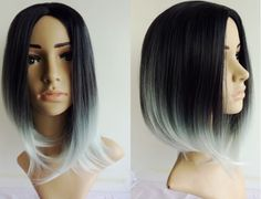 short hair ombre green - Google Search